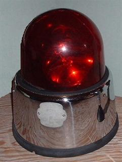 Federal Beacon Ray Model 17 1956 To 1962 2 Clear Bulbs Under A Red Dome